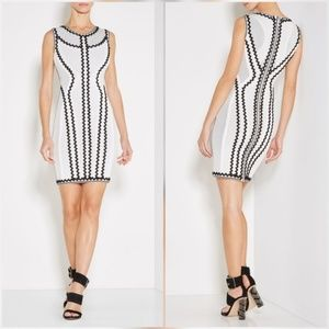 Herve Leger Alabstrco Imaan Dress Black White